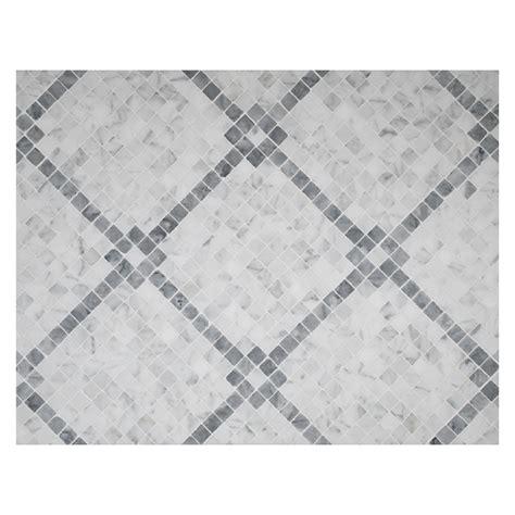 Grid Pattern Mosaic | rothchild s grid mosaic tile polished bianco carrara