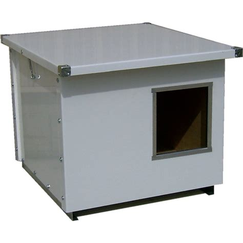 metal dog house shop options plus 2 5 ft x 3 33 ft x 2 5 ft metal dog house at lowes com