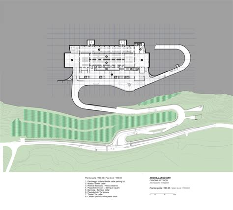 Floor Plans Com gallery of antinori winery archea associati 18