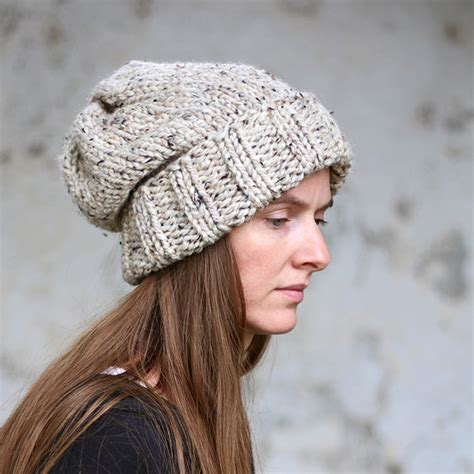 knitting pattern womens hat wisdom women s slouchy hat knitting pattern brome fields