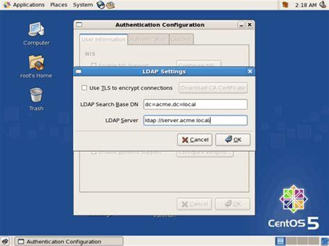 linux howto ldap ldap аутентификация в rhel centos 5