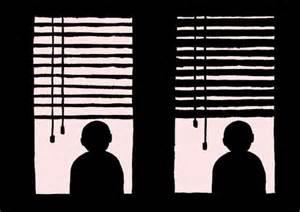 Nature Blinds Sequential Silhouette Art Jean Jullien