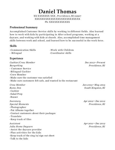 chipotle mexican grill cashiercrew member resume sample
