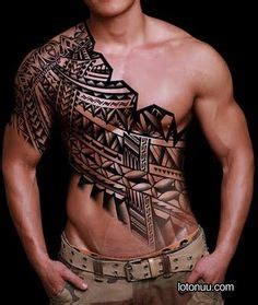 tattoo across chest mens tribal chest tattoo across the body