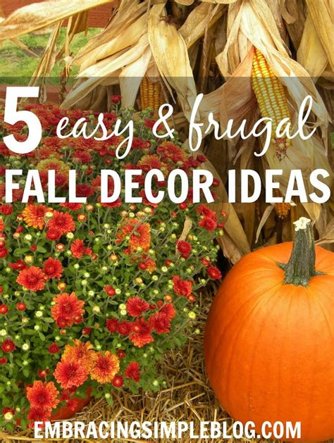 cheap fall decorations for home 17 best images about home decor autumn on pinterest