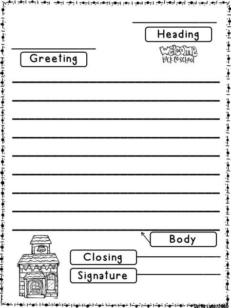 letter writing template for grade friendly letter format for 2nd grade anamisat