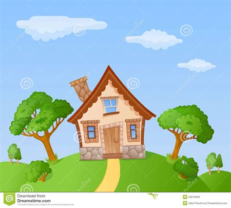 tiny house cartoon cartoon house stock illustration image of building cute