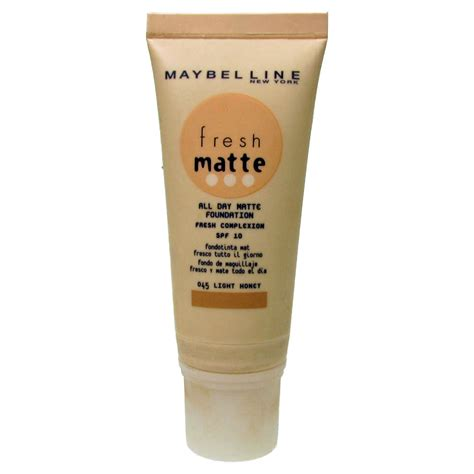 Maybelline Fresh maybelline fresh matte all day foundation spf 10 045 light honey 30ml new ebay