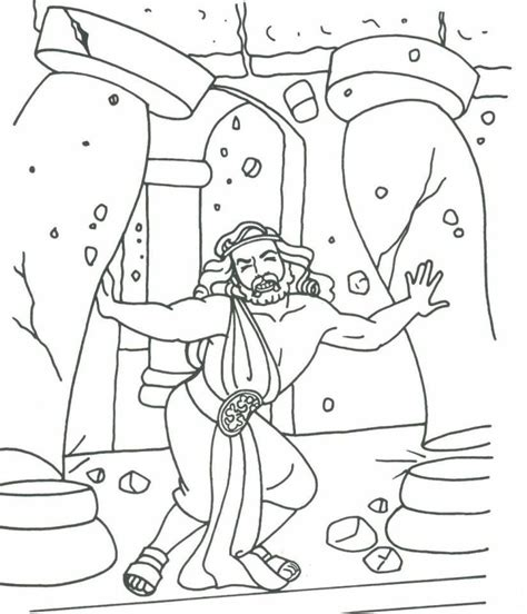 samson coloring page samson and coloring pages coloring home
