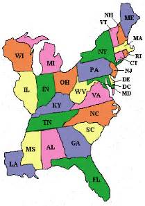 Map Of The East Coast United States by Pin Map Of East Coast Usa United States On Pinterest