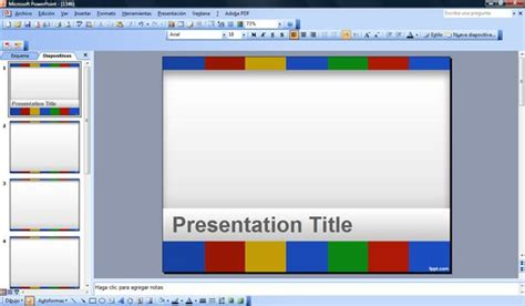 colors of google powerpoint template