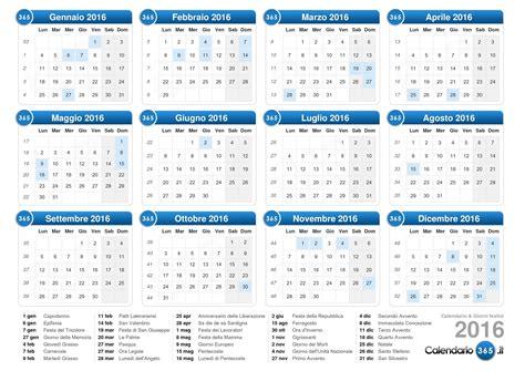Il Calendario Calendario 2016