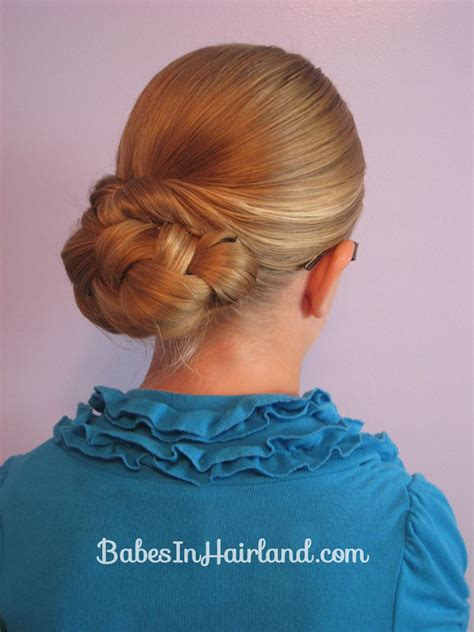 barn dance hair easy rolled braid updo babes in hairland