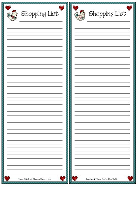 blank recipe cards michaels shopping lists imprimables printables pinterest