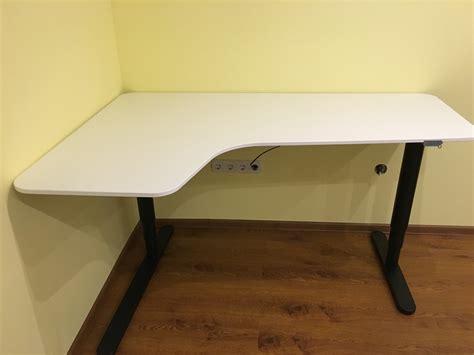 bekant sit stand desk i bought the ikea bekant corner desk left sit stand