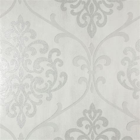 black and white damask wallpaper home depot kenneth james ambrosia silver glitter damask wallpaper