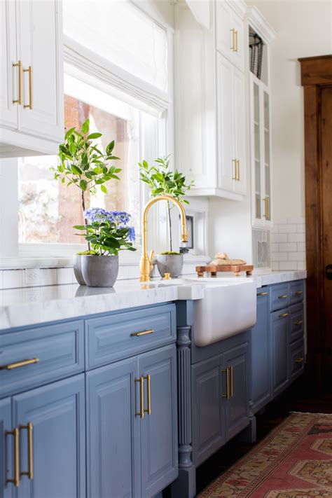 kitchens with blue cabinets 6 lovely farmhouse sinks apron front sinks for the kitchen