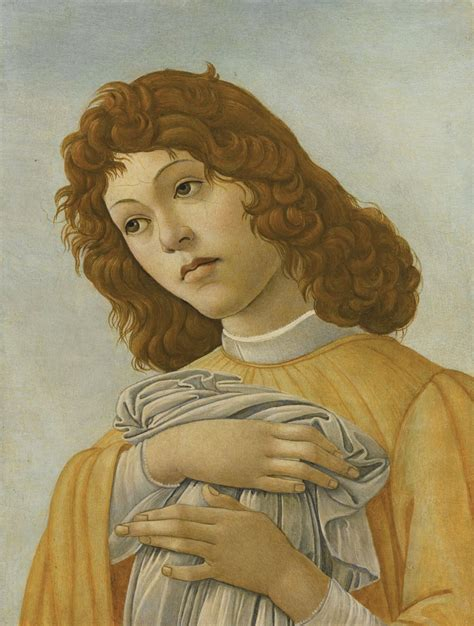 botticelli cuadros botticelli sandro an angel portrait male sotheby s