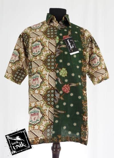 Busana Muslim M13 baju batik kemeja motif batik bola kemeja lengan pendek