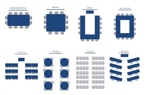 seminar seating layout conference room configuration options california state