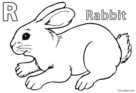 simple rabbit coloring page simple rabbit coloring pages