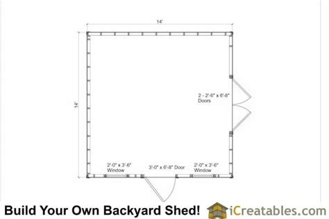 14x14 garage shed plans icreatables