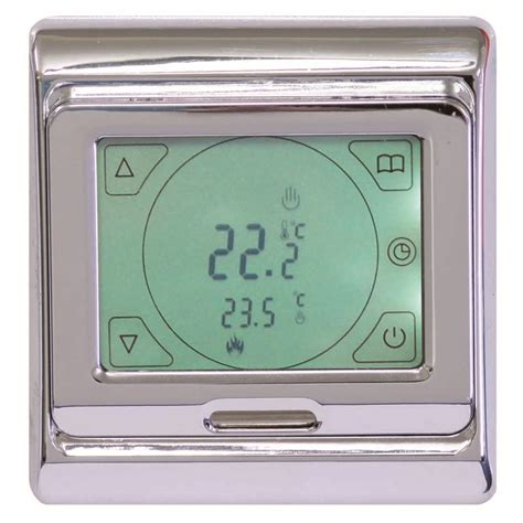 comfort zone thermostat comfortzone touch screen thermostat chrome 5255 comfort