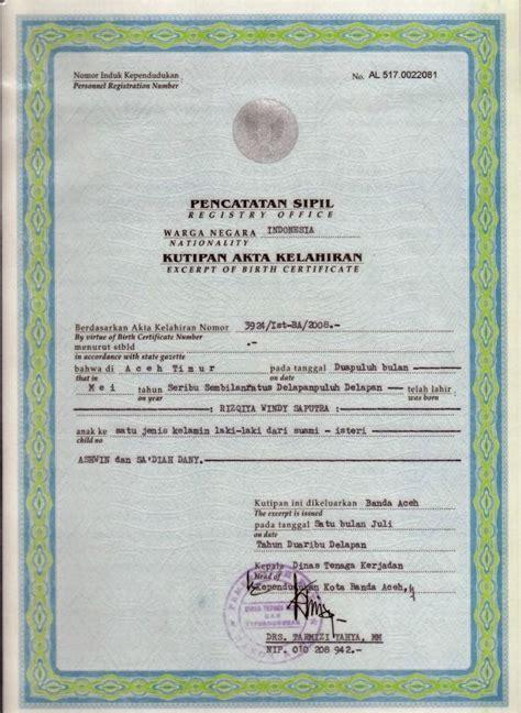 persyaratan membuat akte kelahiran yang hilang rt 003 rw 09 kelurahan pasar minggu akte kelahiran