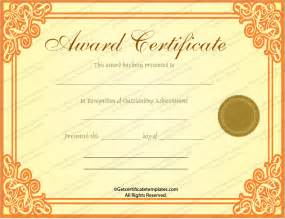 gold certificate template gold award certificate template get certificate templates