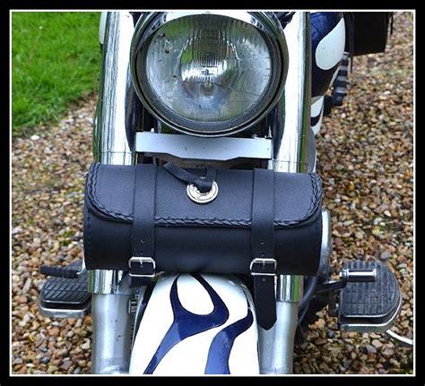 Motorrad Gabel Tasche by Leder Schwarz Werkzeug Tasche F 252 R Motorrad Custom Tasche