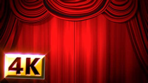theatre drop curtain free stock footage 4k red stage curtain drapes
