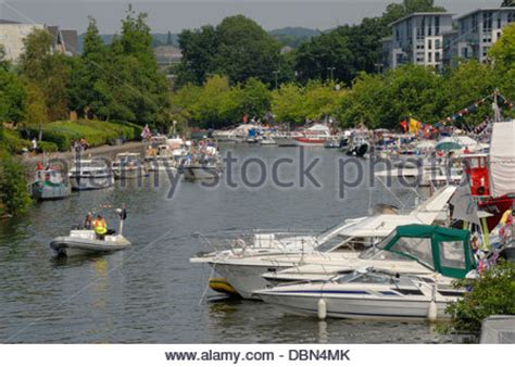 floating boat maidstone maidstone kent england uk river medway all saints