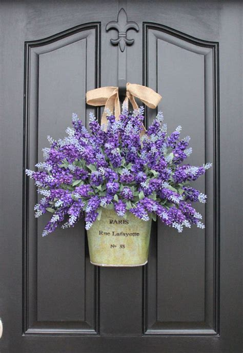 12 beautiful decorations to hang on your door that aren t wreaths lavender display and big