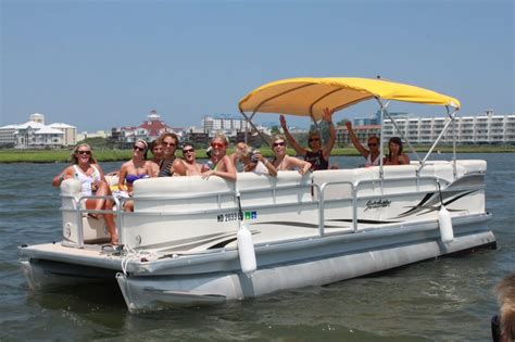 pontoon boats at bayside boat rentals can hold up to 10 13 - Bayside Boat Rental Ocean City Md