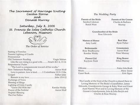 wedding ceremony program template best business template