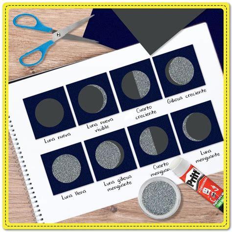 como hacer una maqueta de las 8 fases lunares interactiva m 225 s de 25 ideas incre 237 bles sobre fases de la luna en