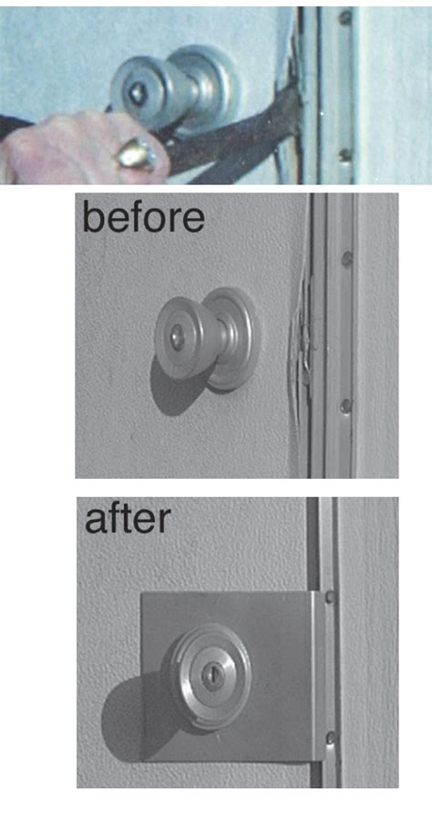 Door Knob Repair Plate by Theft Stopper Door Security Plate For Mobile Home