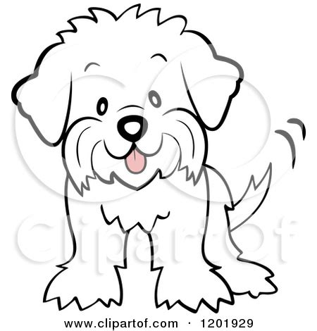 coloring pages of maltese puppies cute cartoon dogs clipart clipart kid