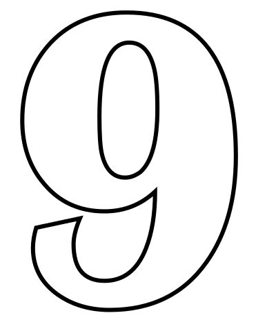 9 Coloring Page by File Classic Alphabet Numbers 9 At Coloring Pages For