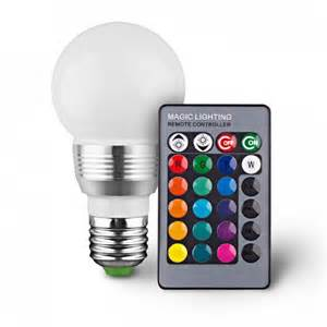 Led Light Bulbs That Change Color Retro Led Color Changing Light Bulb With Remote 16 Different Color Choices Smooth