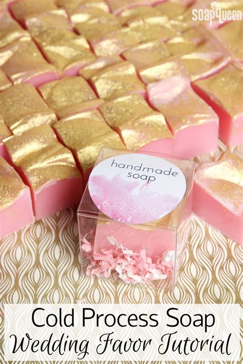 Handmade Favors - cold process soap wedding favor tutorial free printable