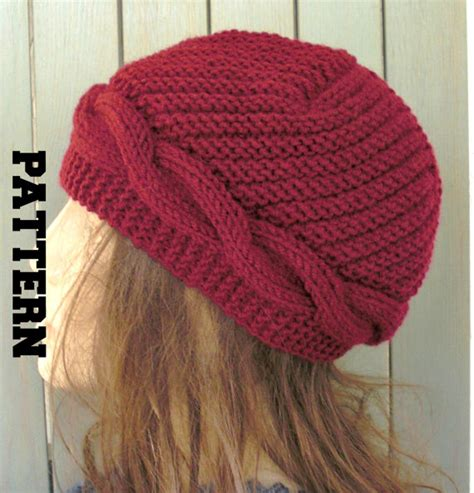 etsy knitting knitting pattern hat instant knit hat pattern