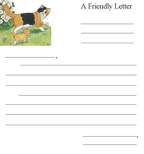 printable cat stationery cat and kitten stationery