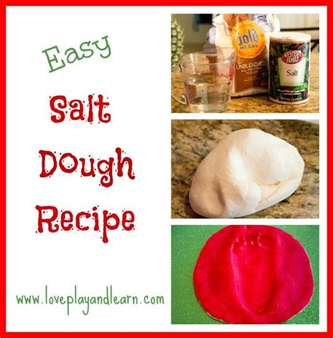 salt dough recipe great for handprint and footprint
