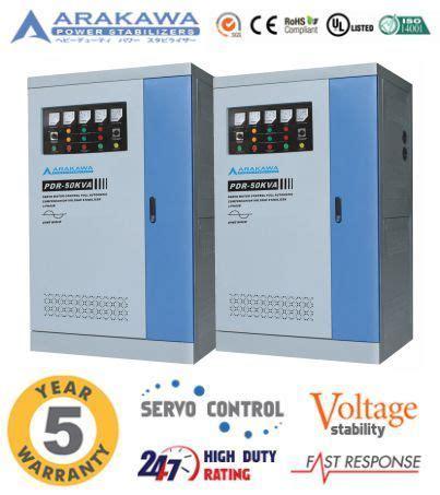 Stabilizer Arakawa Pdr 3 Phase Pdr 400kva jual stabilizer 50 kva automatic pdr automatic