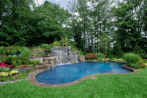 Swimming Pool Garden Ideas Swimming Pool Landscaping Ideas Inground Pools Nj Design Pictures
