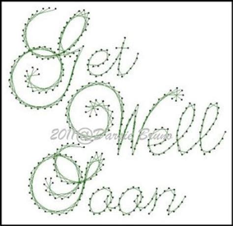 pattern template for get well cards get well soon sentiment paper embroidery pattern for greeting