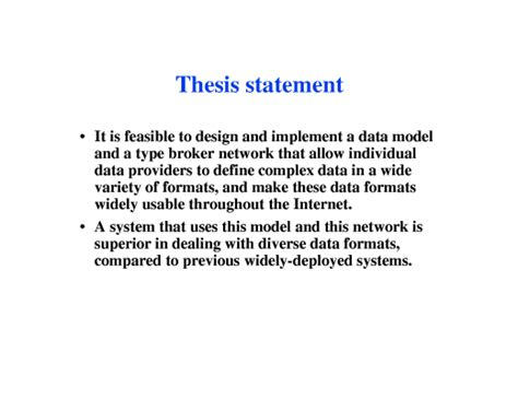 How To Write A Thesis Essay by Thesis Statement