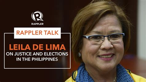 the leader i want leila de limas to fix list for 2016 rappler talk leila de lima on justice and elections in
