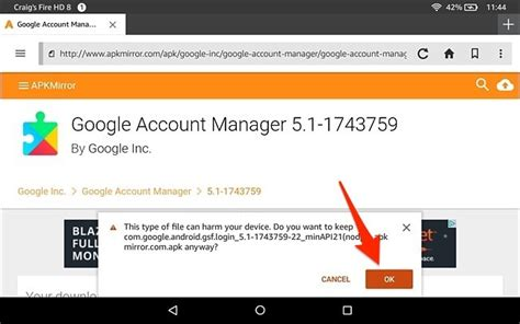 account manager apk how to install the play store on the tablet or hd 8